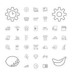 37 machine icons vector