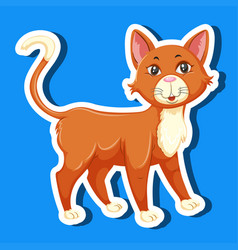 a simple cat sticker vector image