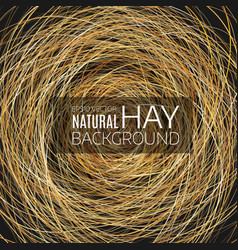 Abstract background hay nest natural background vector