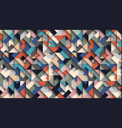 abstract colorful geometric background 3d vector image