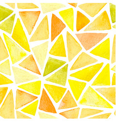 abstract pattern with yellow triangles vector image