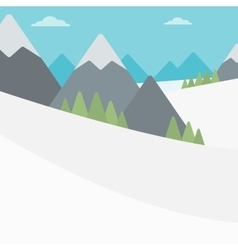 Background of snow capped mountain vector