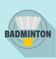 badminton target logo flat style vector image