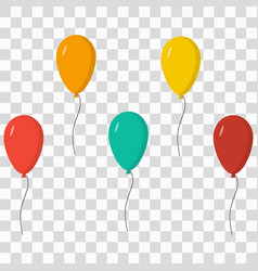 balloons icons set vector image