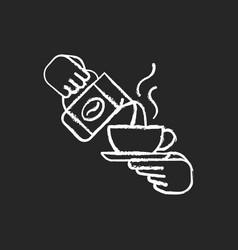barista chalk white icon on black background vector image