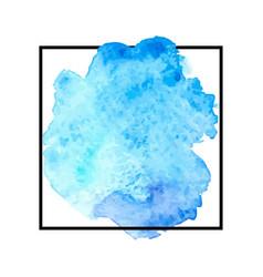 Beautiful blue watercolor vector