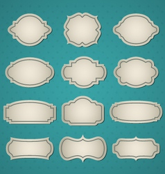 Big frames set vector image
