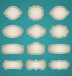 big frames set vector image