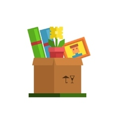 Box With Personal Belongings vector