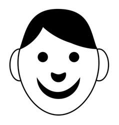 Boy icon simple style vector