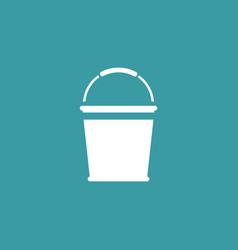bucket icon simple gardening element symbol vector image