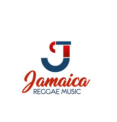 C letter icon for reggae music vector