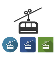 cable railway icon in different variants vector image