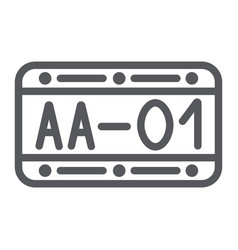 car number line icon automobile and part metal vector image