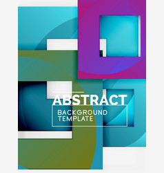color square composition with text geometric vector image