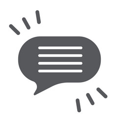 Comment glyph icon chat and dialog speech bubble vector
