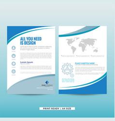 Company marketing brochure vector