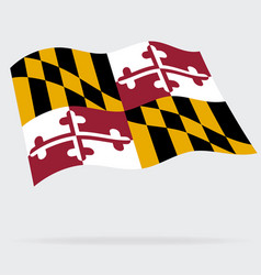 Correct maryland md state flag vector