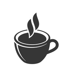 cup coffee icon on white background vector image