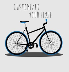 Customized Your Fixie 2 vector image