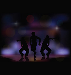 dancing in a nightclub vector image