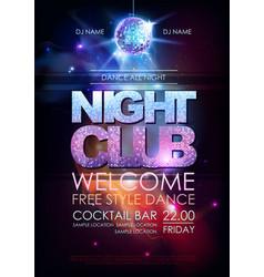 Disco ball background disco night club poster vector