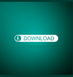 Download button with arrow icon upload button vector