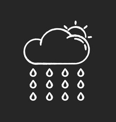 Drizzle chalk white icon on black background vector