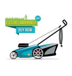 Electric lawn mover sale banner vector