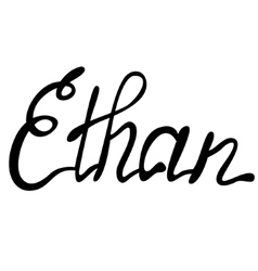 Ethan name lettering vector