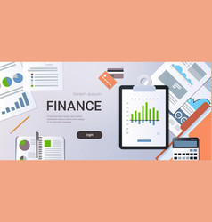 finance chart diagram business statistic concept vector image