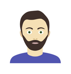 Flat icon of bearded man in sweater vector