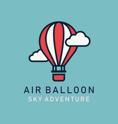 flat image hot air balloons airship vector image