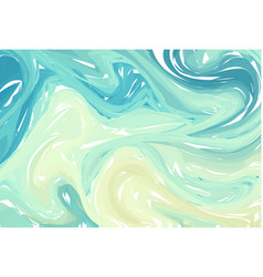 Fluid colorful shapes background blue green vector