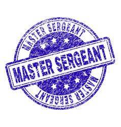 Grunge textured master sergeant stamp seal vector