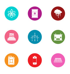 hazardous environment icons set flat style vector image