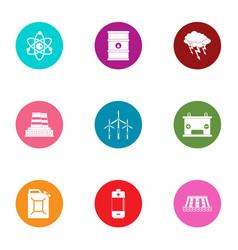Hazardous environment icons set flat style vector