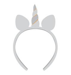 isolated unicorn headband icon vector image