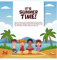 it summer time card vector image