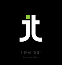 J and t initials or logo for personal and vector