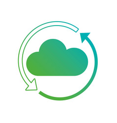 line cloud data loading in the network connection vector image