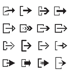 Log out arrow icon vector