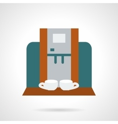 Making coffee for two flat icon vector image