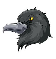 Mascot head an black crow vector