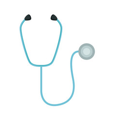 medical stethoscope diagnosis equipment icon vector image