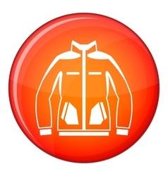 Men winter jacket icon flat style vector image