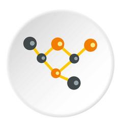 Molecules icon circle vector
