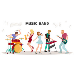 musicians performing on stage vector image