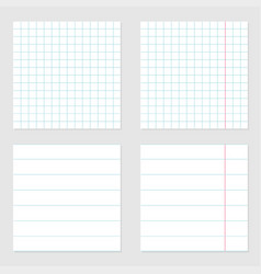 notebook paper texture cell lined template vector image