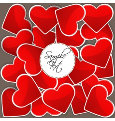 Pattern with red hearts vector